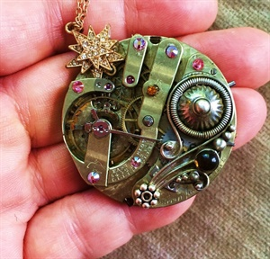 Star Watch Necklace Pendant