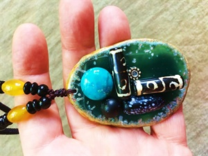 Blue Slice Necklace
