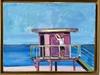 Pink lifeguard house