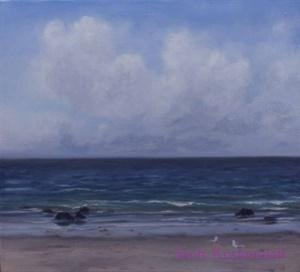 """Two Gulls on Pebble Beach"""