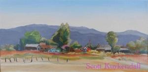 """Taos Scene with Turquiose Truck"""
