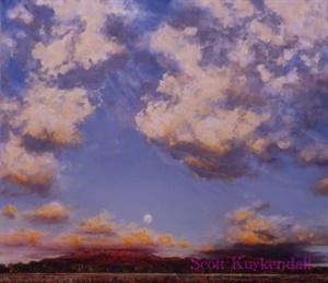 """""""Sandia Sunset with Moon"""""""