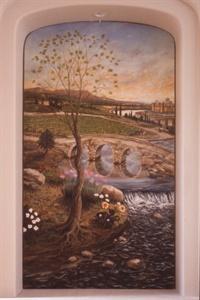 """""""Roman Landscape"""", (left)"""