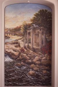 """""""Roman Landscape"""", (right)"""