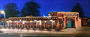 """Hacienda del Rio at Night"""
