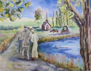 Til Death Do Us Part - watercolor, oil