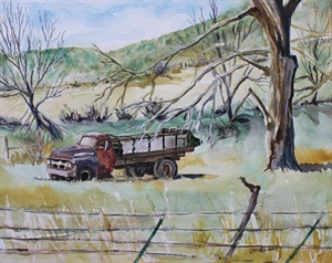 Spreader Truck (watercolor)
