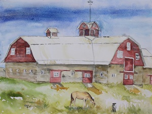 Gebo Barn (watercolor)