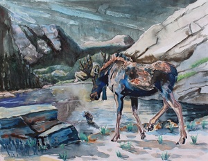 Rimrock Rendezvous (watercolor)