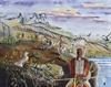 Five Blackfoot Warriors Watercolor