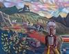 Five Blackfoot Warriors Oil
