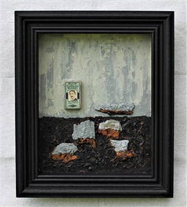 Collage in a Shadow-Box frame -1  (V-2021)