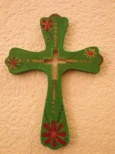 Light Green Cut-Out Cross