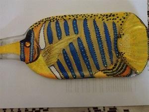 Fish on Wine Bottle