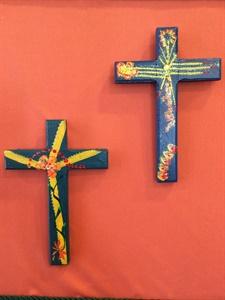 Teal Green Crosses