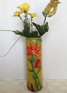Ochre Glass Vase