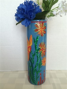 Blue Glass Vase- Back side