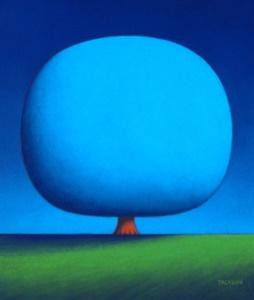 Happy Blue Tree
