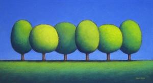 Six Cool Green Trees